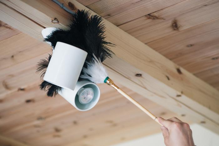 オーストリッチの羽は、手の届かない所も簡単に掃除できます。見た目もとってもおしゃれなので、インテリアにも馴染みやすいのがポイントです。