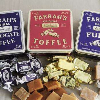 イギリスで愛されているソフトキャンディーです。優しい味わいと柔らかな食感が至福の時間を届けてくれます。贅沢な甘さがコーヒーや紅茶とも相性抜群!クラシックなケースがオシャレで、カバンに入れておきたいお菓子間違いなし。