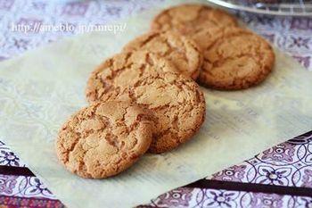 せっかく手作りするなら、カラダにいいものを食べてみませんか?こちらのクッキーはジンジャーの風味が効いたクッキー!ちょっとした冷え対策にもいいですし、食感がしっかりしているのでダイエット時にもおすすめです。
