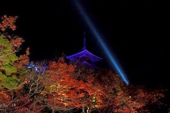 清水寺は、年に数回のライトアップを行っており、2018年は春・夏・秋の開催。秋は、11月17日~12月2日を予定しています。(17時30分~21時受付終了)