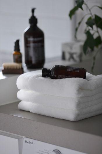 肌触り抜群のバスタオルを用意しておけば、お風呂あがりも幸せな気分が味わえますね♪柔らかなバスタオルで、優しく自分を包んであげましょう。