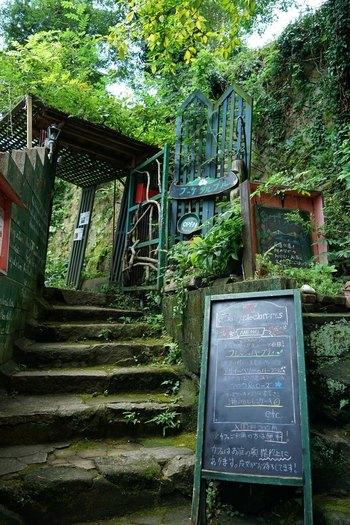 尾道駅からやや離れた千光寺エリアにある、「猫の細道」内にあるハーブ園兼カフェ。  雰囲気とハーバルな外観は、まるで絵本の世界に迷い込んでしまったかのような錯覚を覚えるほど豊かです。