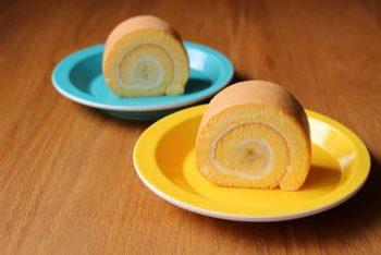 米粉を使うともっちりとした食感のケーキに仕上がります。バナナも種類によってもっちり感が変わってきますので、お好みのバナナで作ってみてくださいね。配合を変えれば、クリームとバナナたっぷりのアレンジも可能ですよ♪