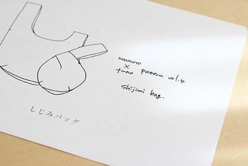 リンク先のHPで布を購入するともらえる「しじみバッグ」の型紙。ちょっぴり余ったハギレをパッチワークにしてつくってもかわいいですよ。わかりやすい動画つきです。