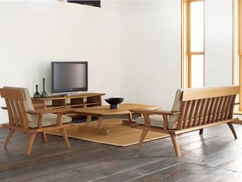 置く家具や雑貨で素敵な和モダンコーディネートのお部屋に仕上げることができるんです。あえて、和の良さを活かした空間コーディネートを楽しみませんか。