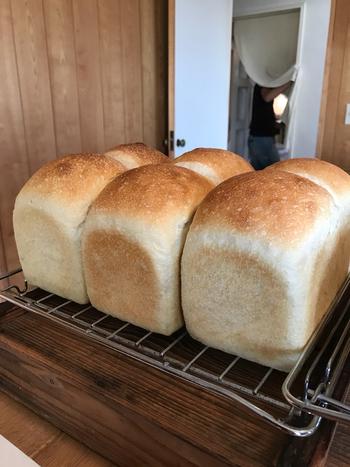 パンは自家製のなつめやし酵母で作られた、シンプルに美味しいものばかり。独学でパン作りを始めたオーナーが、試行錯誤の末たどり着いた、こだわりのパンが並びます。