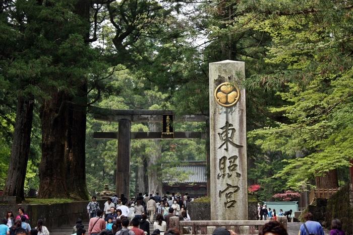 日光のはずせない観光スポットといえば、徳川家康が祀られている「日光東照宮」でしょう。JR日光駅・東武日光駅より東武バス「神橋」で下車し、そこから徒歩約10分の距離にあります。世界遺産に登録された日光の社寺のひとつで、多くの観光客が足を運びます。現存する東照宮の主な社殿は1636年頃に徳川三代将軍・家光が建て替えたとされ、数多くの国宝や重要文化財があります。
