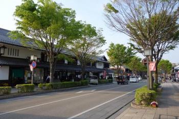 彦根城のお堀にかかる京橋から伸びる夢京橋キャッスルロードの散策もおすすめ。江戸時代の城下町をイメージした白壁と黒格子のおしゃれな町屋が並び、グルメやショッピングを楽しめます♪