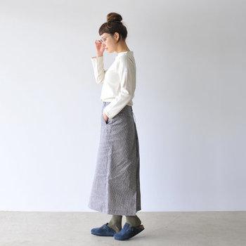 ビルケンシュトック×靴下なら、やっぱりBOSTONも欠かせません。夏や秋だけではなく、春も冬も履き続けられるスエードレザーは、靴下との相性が抜群です。