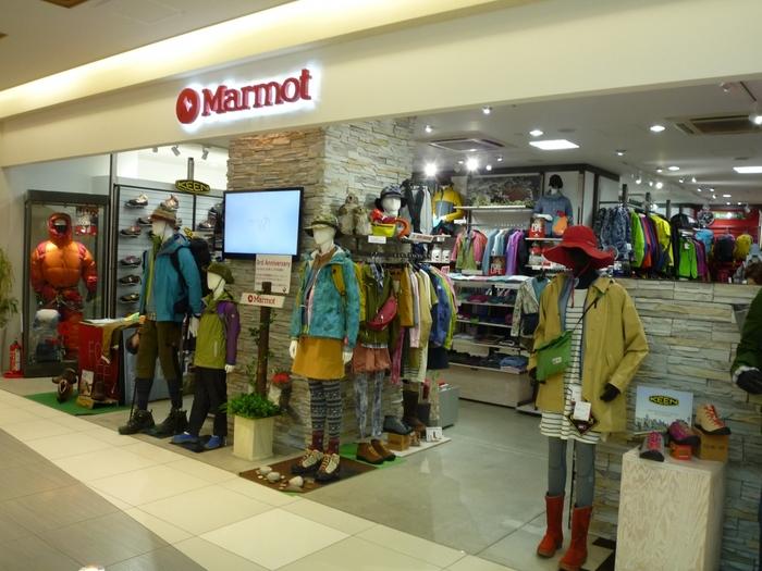 アメリカのブランド「Marmot(マーモット)」。高機能で本格的なアウトドアアイテムがそろいます。