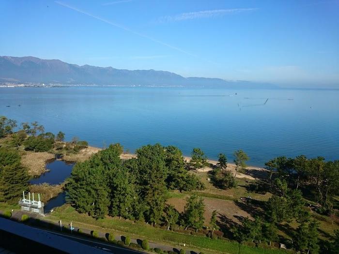 ホテルのお部屋からの琵琶湖ビューもすばらしいです!