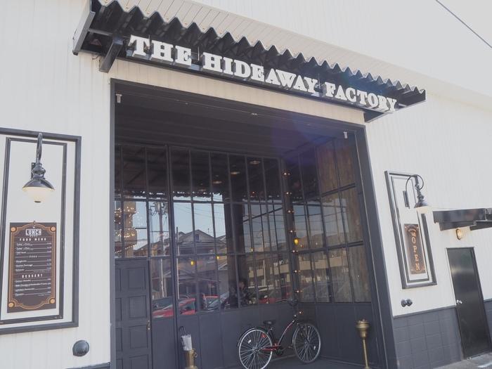 草津駅から1.5km、旧中山道や国道1号線からもすぐの栗東市小柿にあるアメリカ風のお店です。