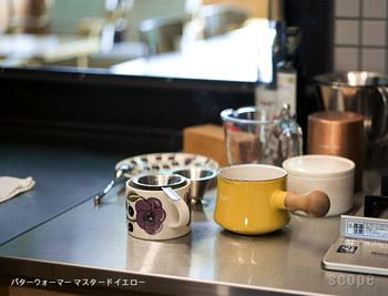 どれにしようか迷ったら、いっそデザインで決めてもOK。小振りなミルクパンはテーブルにも持っていけるから、見た目も重要なポイントです。
