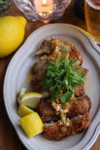お酢の代わりにレモンを加えると、爽やかな風味に。おしゃれな雰囲気で、洋風なメニューとのコラボもできそうですね。