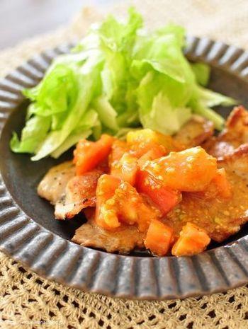 こちらは、味噌をベースにしたトマトだれ。他にも、和風・洋風・中華風などお好みのトマトだれを見つけて、ぜひ常備しておきましょう◎