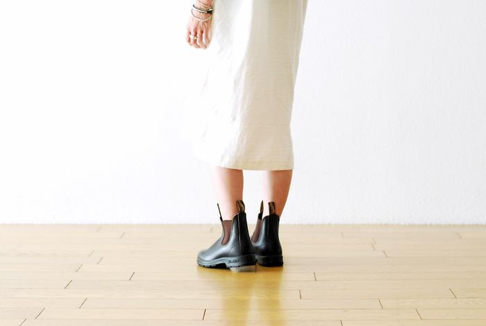 タスマニア島を拠点に発信しているブーツブランド「Blundstone (ブランドストーン) 」。イタリアで学んだ靴づくりを生かし、オイルレザーで丁寧に仕上げられています。
