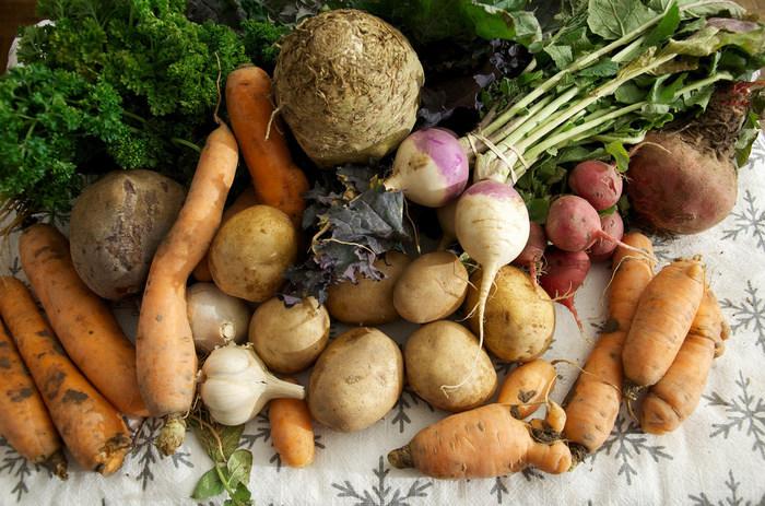 秋野菜は、人参やごぼうなどのように、主に根菜類が中心です。じゃがいも、さつまいも、里芋など、いも類もいろいろ楽しめますよ。合わせて、きのこのおいしい季節でもあります。