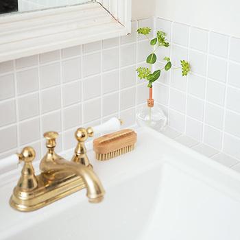 洗面所やお手洗いは、きちんと掃除しておきたい場所のひとつです。きれいに磨いてピカピカにしておくと気持ちいいですよね。ちょっとした草花を飾っておくのも、おもてなしの気持ちが伝わって素敵です。