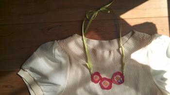 リボンを使ったネックレス。なかなかお店で買えないデザインも、ハンドメイドなら実現できるのが嬉しいところ♪