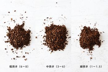 豆の挽き加減も抽出方法に合わせて自在です。10段階に分かれた挽き加減で、お好みのコーヒーを淹れられるんです。