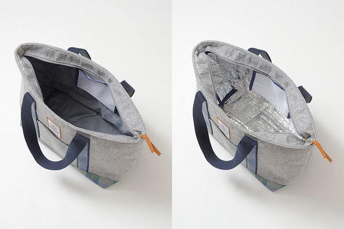 バッグとしての機能を重視したい方には、内側の保冷部分を取り外しできるタイプもオススメです。これなら普段のお出かけにも使えますよ。