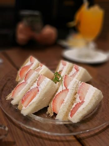 フルーツサンドの代表格『いちごのサンドイッチ』。