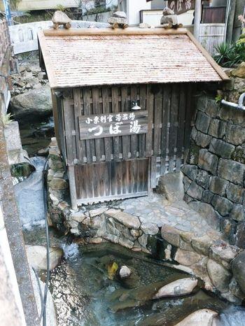 こちらは「紀伊山地の霊場と参詣道」の一部として、世界遺産に登録されているつぼ湯。天然温泉の岩風呂で、公衆浴場となっています。