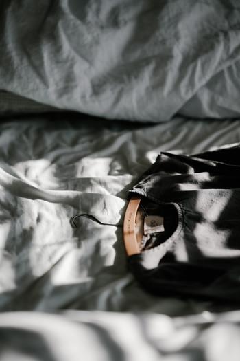 コーディネートを考える時間も楽しいもの。 新しい発見があったり、不要な服を処分する機会も兼ねて。 次の日の準備が整うから朝の時間にも余裕が出てきます。