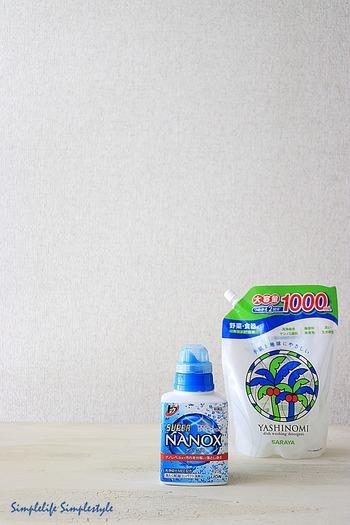 粉洗剤の方が汗や皮脂に対する洗浄力が強く、その分しっかりとすすぎが必要となります。逆に液体洗剤は粉洗剤と比べると洗浄力は落ちますが、すすぎ1回で済むものもあり、時短や水の節約ができます。普段使いは液体洗剤、ここぞという時は粉洗剤、という風に必要に応じて使い分けるといいですね。
