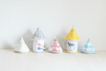 カバーの柄違いで何枚か作れば家族でお茶をしていても誰のお茶かすぐにわかって便利ですね♪
