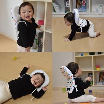 また、背中に密着しないように設計されているものも多く、遊んで汗をかいても蒸れにくくなっているクッションリュックも。
