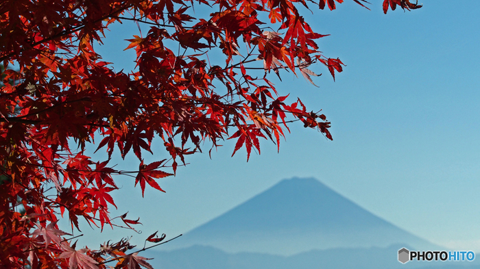 山頂には、山梨の雄大な山々を望む大パノラマが広がっています。天気がよければ富士山も見えますよ。
