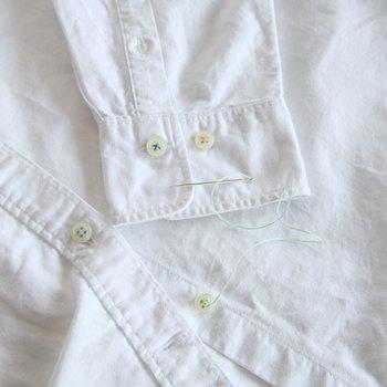 手縫いの時に必ず使う縫い針。布の厚さや糸の種類に合わせて針のサイズも変えて使います。