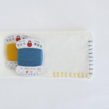 """裁縫の糸には""""手縫い糸""""と""""ミシン糸""""があります。 一般的な手縫い糸は平らなパッケージ(ぺラコーン)で売られています。"""