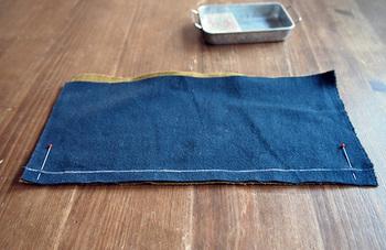 2枚の布や縫いたい箇所をずれないように仮留めするためのまち針。