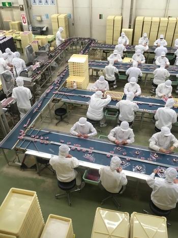 山梨土産の定番「信玄餅」の製造工程は、事前予約なしで見学できます。