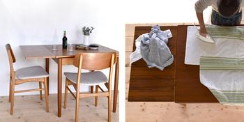 また、お家のリビングダイニングが狭いにも関わらず大きなテーブルを買ってしまうと、日常生活で邪魔な存在になることも。子どもの勉強机や、家事用テーブルとして使えるようなテーブルを選んでおくのも良さそう。