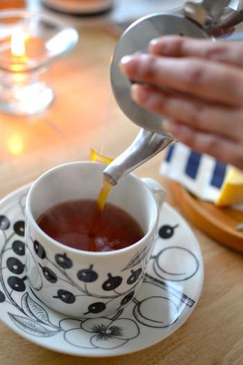 大きな仕事を控えていたり、いつも以上に「しっかりしなきゃ!」という日は、紅茶がおすすめ。紅茶に含まれるテアニンの働きで、集中力アップが期待できます。