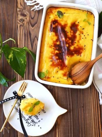 おいしいスイートポテトが、なんとさつまいもとバニラアイスだけで作れてしまう人気レシピ!小さめに焼けば、さつまいもが少ししか残っていなくても活用できそうですね♪