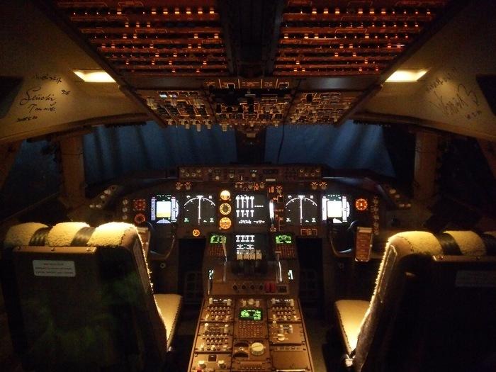 ボーイングのエンジンやコックピットなど、普段見ることができない飛行機の内部をじっくり見学することができます。フライトシミュレーターもあり、まさに気分はパイロット。