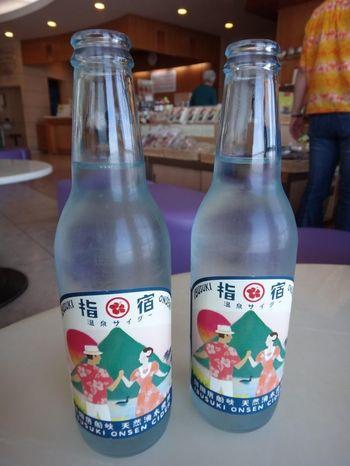 """""""平成の名水百選""""にも選ばれた唐船峡京田の湧水を使って作った指宿温泉サイダー。すっきり爽やかな味わいが特徴で、レトロなデザインが人気!お土産にはもちろん、飲み歩きするのもいいですね。"""