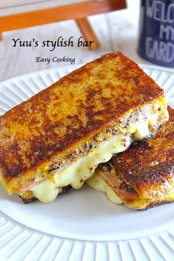 こちらはたっぷりのチーズに粒マスタードを効かせたモンティクリフト。ボリュームがあるのでしっかり食べたい朝やブランチにピッタリです。