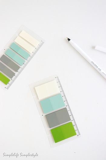 また付箋は1cm幅ほどの小さなタイプから、メモ帳くらいの大きなものまで様々なサイズがあります。最近では、フィルムタイプの透明デザインや雲形の付箋などなど、素材や形もバラエティ豊富に揃っています。