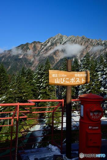 山頂には、日本最高所にある「山びこポスト」があり、実際に郵便も送れます。木でできた「はが木」なども売店で購入できるので、記念に家族や自分宛に送ってみるのもおすすめです。