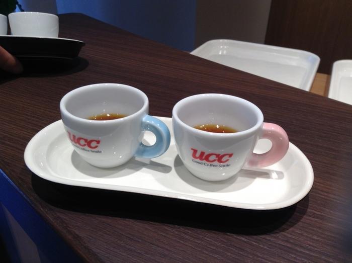こちらはコーヒーの飲み比べのカップで、販売もされています。ミュージアムショップにはこのカップのほか、さまざまなコーヒーグッズが並ぶのでお土産にしてみては?