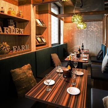 たくさんの個室があり、デートにもぴったりの『名古屋ガーデンファーム』。
