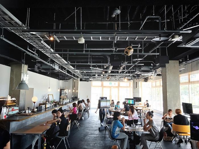 星丘テラスにあるカフェ『トド アリトルナレッジストア』。広々とした店内で、ベビーカーのまま入れます。
