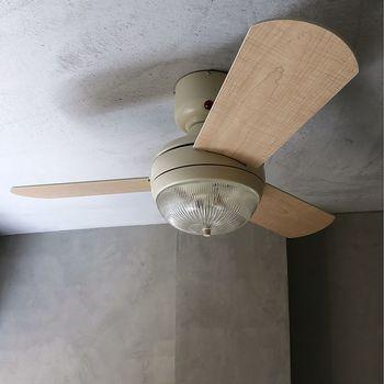 暖かい空気は上、冷たい空気は下にいくという性質があります。 空気を循環させるシーリングファンやサーキュレーターは、冬にも大活躍。  シーリングファンは冷たい空気を上に循環させるべく、「右向き」もしくは「上向き」モードに切り替えましょう。 サーキュレーターは「上向き」に設置して。ちなみに夏はこの逆です。