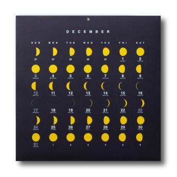 今日の月がすぐにわかる、30㎝四方のカレンダー  2019 MOON CALENDAR