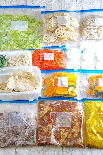 その他の野菜や味付け後に冷凍しておくと便利なお肉など、こちらのブログで数多くご紹介してあります。冷蔵・冷凍それぞれの保存期間や、保存の仕方など参考になるので、ぜひこちらのリンクからチェックしてみてください!